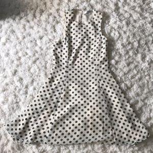 Off White/cream dress with polka dot design